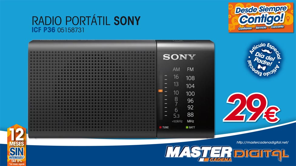 RADIO PORTATIL SONY ICF P36