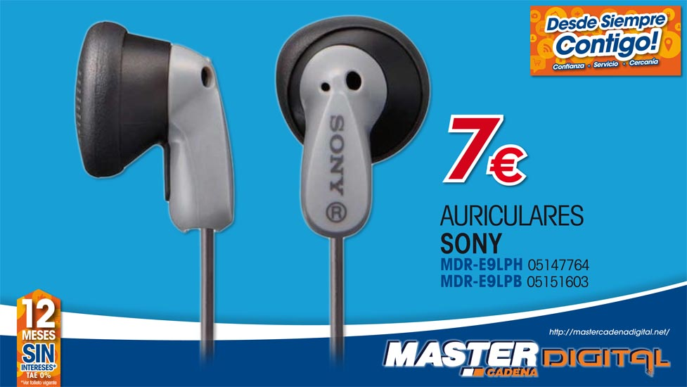 AURICULARES SONY MDR-E9LPH / MDR-LE9LPB